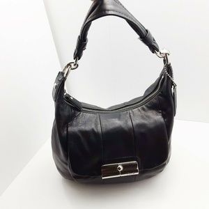 Nice Coach Black Leather LG Silver Hardware Hobo S